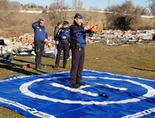 1ª OPERACIÓN CON DRONES EN ESPACIO AÉREO CONTROLADO EN MADRID CON LA COLABORACIÓN DE ENAIRE Y POLICÍA MUNICIPAL DE MADRID